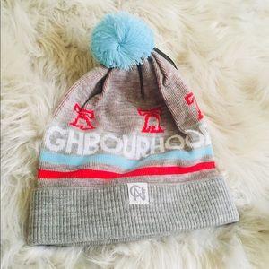 City of Neighborhood Pom Beanie Knit Hat